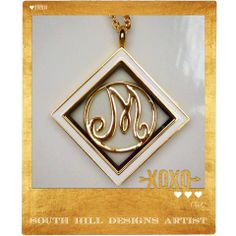 contact me to help you design a beautiful locket today! I will help you tell your story...southhilldesignsbev@gmail.com Beautiful new gold & silver tone monogram screens from South Hill Designs.  www.gocharmit.com