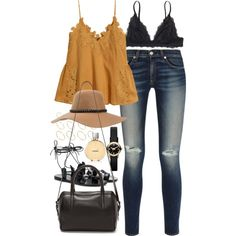 Outfit for a summer college excursion by ferned on Polyvore featuring polyvore, fashion, style, H&M, rag & bone, Monki, Ancient Greek Sandals, Reece Hudson, Marc by Marc Jacobs and ASOS