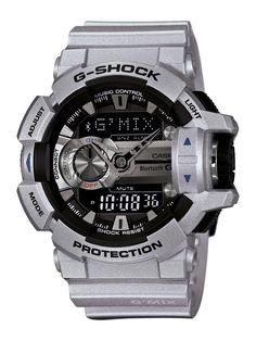 G-Shock G-Mix Bluetooth Grey Watch with Smartphone Link Casio G-shock, Casio Watch, G Shock Store, Cool Watches, Watches For Men, Men's Watches, Wrist Watches, Fashion Watches, Men's Fashion