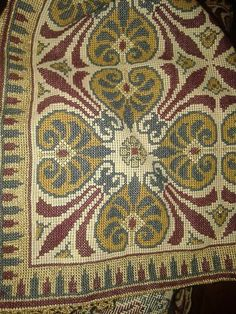 ru / Фото - - kento (With images) Cross Stitch Designs, Cross Stitch Patterns, Cross Stitching, Cross Stitch Embroidery, Rug Inspiration, Table Covers, Needlepoint, Bohemian Rug, Knitting