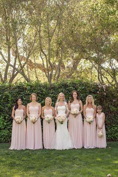 Carmel Valley Ranch Wedding Carlie Statsky photography  blush bridesmaid dresses