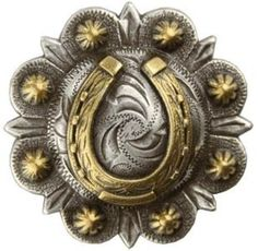 Antique Nickel Gold Horsehoe Berry Conchos  by TheLeatherGuyMN, $6.00