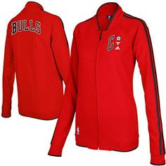 e9d76ee573af adidas Chicago Bulls Ladies On Court Full Zip Track Jacket - Red