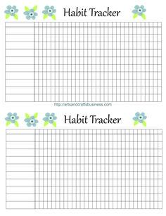 Habit tracker | personal size, via http://artsandcraftsbusiness.com/