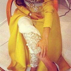 Yellow abaya