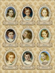 The nine Royal children of Queen Victoria (Alexandrina Victoria) and Prince Albert of Saxe-Coburg and Gotha (Francis Albert Augustus Charles Emmanuel) Prince Consort of Queen Victoria. Queen Victoria Children, Queen Victoria Family, Queen Victoria Prince Albert, Princess Victoria, Princesa Beatrice, Roi George, Reine Victoria, Victoria Pbs, Victoria Reign
