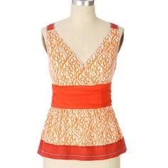 Anthropologie Orange Raveena Sleeveless Blouse 2 Excellent condition. By Edme & Esyllte . Zips up the side Anthropologie Tops Blouses