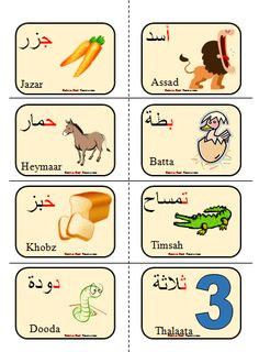 Arabic alphabet Flashcards | Arabic Playground