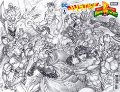 Justice League vs Power Rangers 2B pencils