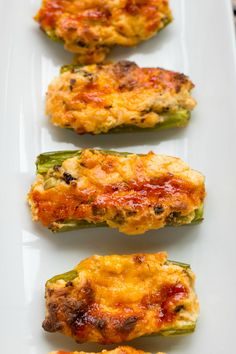 Mushroom and Cheese Stuffed Jalapenos   #recipe #cheese #vegetarian #jalapenos #appetizer   http://thecookiewriter.com