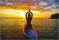 Paddle Board Yoga. Reallllly want to try this!