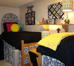 """I have heard about using sheets as a """"bedskirt"""" for tall beds to hide all the things underneath! #idea"""