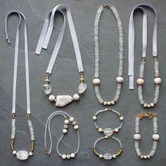 Quartz, jasper and opal Leather Jewelry, Boho Jewelry, Jewelry Crafts, Jewelry Art, Beaded Jewelry, Jewelery, Jewelry Accessories, Jewelry Necklaces, Fashion Jewelry