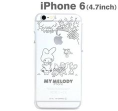 Sanrio My Melody Hard iPhone6 Clear Case - UK Stock