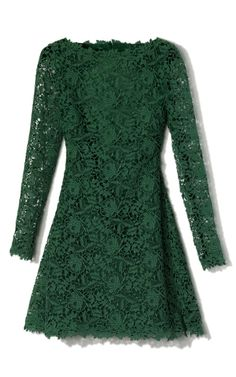 Valentino Resort Emerald Backless Lace Dress in Green (emerald) | Lyst