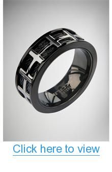 Black Band Silver Cross Ring #Black #Band #Silver #Cross #Ring