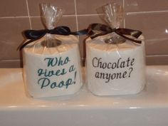 Embroidered Toilet Paper by SewingWhat on Etsy