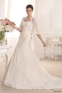 Tarik Ediz 2014 colección de novia novia bolero envolver una boda vestido de línea defne g1129