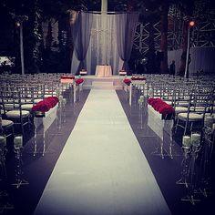 Wedding ceremony last night at @crystalgardenschi with @eventcreativeweddings #loveislivenitup