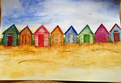 Beach Huts, Beach Cottages, Beach Quilt, Beach Crafts, Textile Artists, Quilting Projects, Nautical, Sea, Quilts