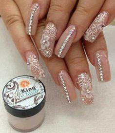 Pretty nails nails nails, acrylic nails и pink nails Sexy Nails, Hot Nails, Fancy Nails, Bling Nails, Hair And Nails, 3d Acrylic Nails, Acrylic Nail Designs, Nail Art Designs, Coffin Nails