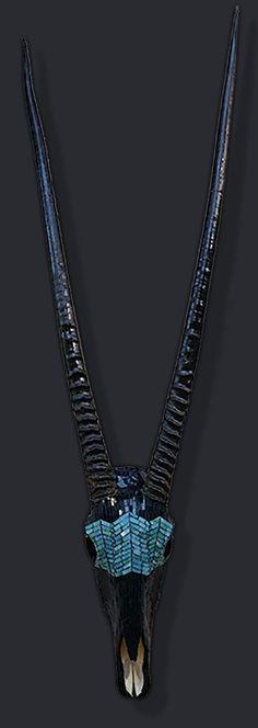 "Mosaic skull....""Mardi"" Gras....Gemsbok Oryx,,,ZaZa! Designs"