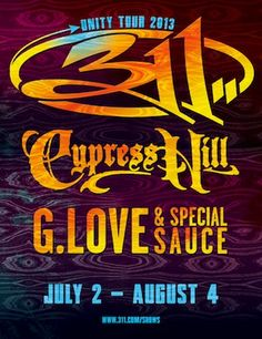 This summer is sizzling as G Love & Special Sauce join the Unity Tour with friends 311 and Cypress Hill.