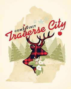 Traverse City threadless t-shirt submission. i normally don't like graphic tees but I would SO wear this.