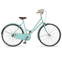 Aqua vintage bike I want one like this my dad Sid he might buy me one n teach me cuz I sadly still sum wat don't kno but ehh ill learn :D