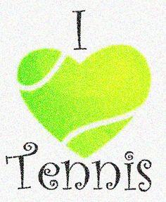 I Love Tennis for tshirt or towel monogram #tennisquotes
