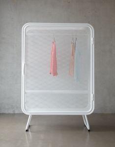 Jesse Visser's 'Harold' wardrobe in matte white tubular steel