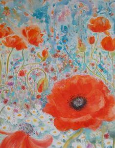 """Saatchi Art Artist Sharon Perris; Painting, """"Mrs B's Garden"""" #art"""