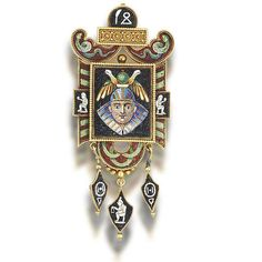 A gold and micromosaic brooch/pendant,
