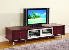 TV Cabinet in Mahogany - Global Furniture USA