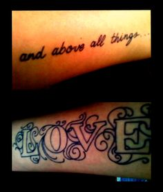 and above all things... love.