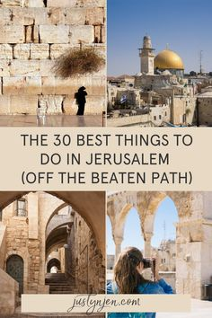 There is so much to do in Jerusalem that planning your trip can be overwhelming. I've been to Israel 3 times and I know exactly how you should be spending your time in Jerusalem | A week in Jerusalem | What to do in Jerusalem | Where to stay in Jerusalem | Visiting Israel | Where to go in Israel | Jerusalem Museums | Jerusalem History | Where to eat in Jerusalem Visit Israel, Israel Travel, Ultimate Travel, Weekend Trips, Plan Your Trip, Jerusalem, World Heritage Sites, Where To Go, Cool Places To Visit
