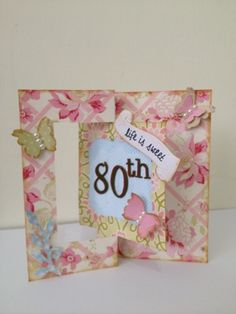 Old Red Shed - butterfly flip it card