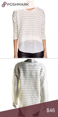 """🆕DESIGN HISTORY KNIT LAYERED SWEATER DESIGN HISTORY KNIT LAYERED SWEATER ~ Soft Knit ~ Crew Neck ~ Wear any season ~ Color:Pearl Combo ~ Length: 25"""" ~ Acrylic/Nylon/Polyester #0936 🚫Trades or Holds ✅Use offer option Design History Tops"""