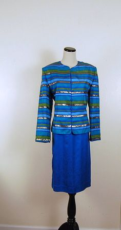 Vintage Peacock Suit by CheekyVintageCloset on Etsy, $42.00