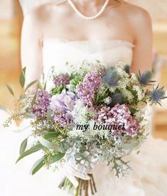 {60B79ADC-0C81-42F6-B595-A4C765444DBA} Grey Purple Wedding, Floral Wedding, Wedding Flowers, Wedding Dresses, Hand Bouquet Wedding, Bride Bouquets, Wedding Images, Wedding Styles, Natural Bouquet