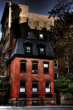 The corner of Barrow and Commerce Streets in Greenwich Village (the West Village), NYC