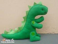 Resultado de imagem para moldes de dinossauros em feltro