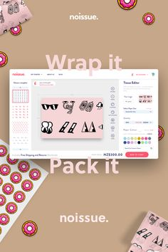 Design your own custom tissue packaging paper with logos - noissue Custom Packaging, Packaging Design, Branding Design, Packaging Ideas, Web Design, Graphic Design, Cover Design, Plakat Design, Flyer