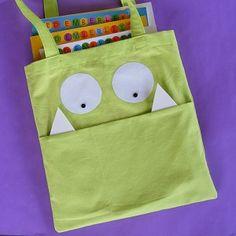 Beast Bag – easy library tote bag sewing pattern
