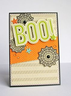 Boo! Halloween card by designer Nicole Nowosad featuring Jillibean Soup Owloween Stew, Witches Brew, Soup Staples III, Cool As A Cucumber Soup