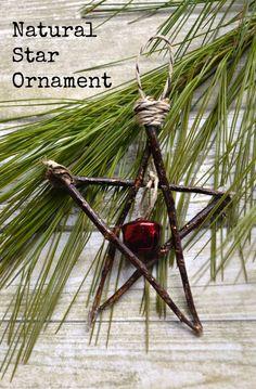 Rustic Natural Star Ornament