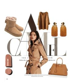 """""""Camel touch"""" by hellodielilly on Polyvore featuring Burberry, UGG, Maison Margiela, Lizzie Fortunato and Chanel"""