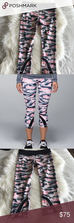 Lululemon Run: Inspire Crop II EUC RARE Lululemon Run: Inspire Crop II in Wamo Camo Barely Pink. lululemon athletica Pants