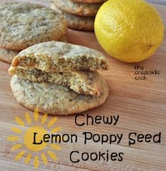 Chewy Lemon Poppy Seed Cookies are so easy and totally amazing!   The Creekside Cook