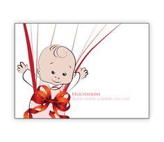 Süße franz. Babykarte mit Geschenk Schleife: Félicitations.. - http://www.1agrusskarten.de/shop/suse-franz-babykarte-mit-geschenk-schleife-felicitations-pour-votre-cadeau-du-ciel/    00000_1_2487, Eltern, Familie, geboren Neugeborenes, Geburt, gratulieren Großeltern, Grusskarte, Klappkarte Baby00000_1_2487, Eltern, Familie, geboren Neugeborenes, Geburt, gratulieren Großeltern, Grusskarte, Klappkarte Baby